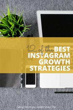 12 Instagram Growth Strategies | social media marketing | blogging tips for getting more traffic from Instagram.