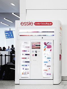 Essie Nail Polish Vending Machines Are Coming To An Airport Terminal Near You! Essie Nail Polish, Glitter Nail Polish, Nail Polish Colors, Nail Polishes, Essie Colors, The Beauty Department, Nail Art, Hand Care, Ideas