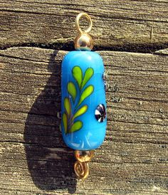 Small Blue Lampworked Glass Charm or Pendant by CourtneyBDesigns, $14.99