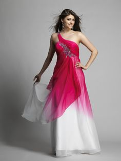 Pink ombre one should from #D&J #prom - Dave & Johnny 10062