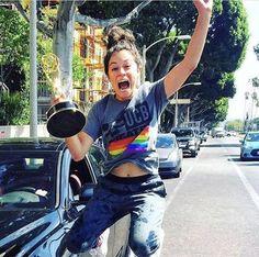 LGBTQ Ally Tatiana Maslany after winning an Emmy