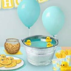 Duck bath for baby shower drink @Haley Sewell for Ken