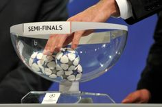 The #UEFA Champions League and Europa League Semi Final draws have been made - and here are the results... Champions League: Real Madrid v Bayern Munich Chelsea v Atletico Madrid Europa League: Sevilla v Valencia Benfica v Juventus