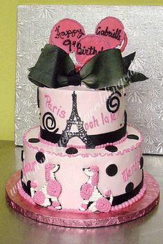 Paris Themed Wedding Cakes | Im stuck!! Ideas needed!! Black, white, and pink baby shower
