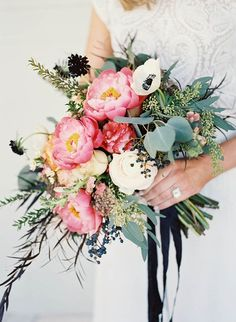 20 Gorgeous Wedding Centerpieces & Bouquets Featuring Peonies - Inspired By This
