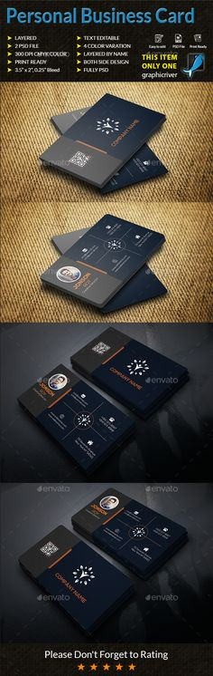 Personal #Business #Card - Business Cards Print Templates Download here: https://graphicriver.net/item/personal-business-card/20061060? Download here: