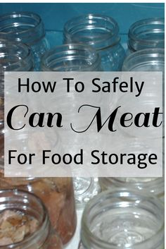 How to safely can meat for food storage Canning meat for food storage is one of the most important skills for preppers. Canned meat is surprisingly easy, tasty and safe. Canning Tips, Home Canning, Canning Recipes, Emergency Food, Survival Food, Survival Prepping, Survival Quotes, Disaster Preparedness, Canned Meat