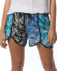 Tolani Alexi shorts in turquoise - Clothing - Birdmotel Online Store