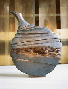 by corovan on DeviantArt krukker seramik. by corovan on DeviantArt Pottery Handbuilding, Raku Pottery, Pottery Sculpture, Slab Pottery, Slab Ceramics, Porcelain Ceramics, Sculptures Céramiques, Hand Built Pottery, Pottery Techniques