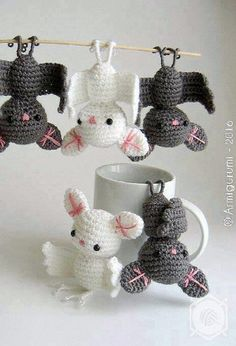 Crochet These Widely Admired Amigurumi Bat - It Will Get You Lots Of Smiles,Thanks so xox ☆ ★ https://uk.pinterest.com/peacefuldoves/
