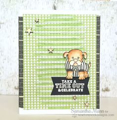 Dog Football Card by Samantha Mann | Touchdown Tails stamp set by Newton's Nook Designs #newtonsnook #football