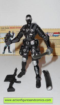 gi joe SNAKE EYES 2002 v14 g i joe vs cobra action figures hasbro toys