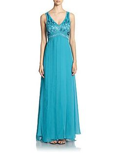 Sue Wong Embellished Empire Panel Gown <br>