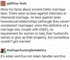 Adam and Eve not Adam Sandler and eve Celtic marriage wedding funny