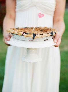 #rustic, #pie  Photography: White Loft Studio - whiteloftstudio.com Coordination + Bouquet: Beautiful Days - beautifuldaysevents.com  Read More: http://www.stylemepretty.com/2013/03/06/maine-wedding-from-white-loft-studio/