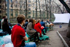 'On the Way' pop-up cinema by BBBspaces, Moscow
