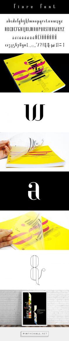Fiore font on Behance by Virag Veszteg
