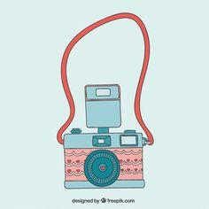 Caméra mignon dans le style vintage