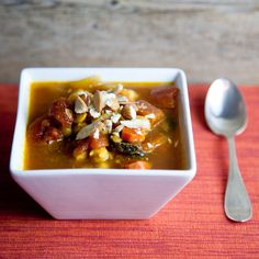 """Spiced Vegetable & Chickpea Stew—this is what it's like when """"light"""" and """"hearty"""" collide."""