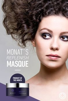 Hair possessed by some strange force?  Tame it with MONAT's Replenish Masque!  #healthyhair