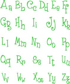 Embroidery Alphabet Patterns Free | Free Machine Embroidery Font Set Titled The Frog - Free Embroidery ...