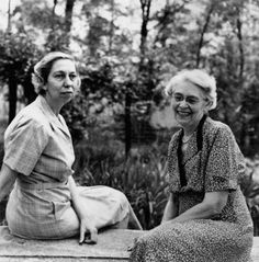 Eudora Welty and her mother, Chestina, in their garden (Photograph by Rollie McKenna, courtesy of Eudora Welty LLC and Rosalie Thorne McKenna Foundation)