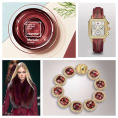 The fashion and jewelry industries have been a buzz this past week with the announcement of Pantone's 2015 Color Of The Year. Marsala, a rich red/burgundy is the it color for 2015. We'll be seein...