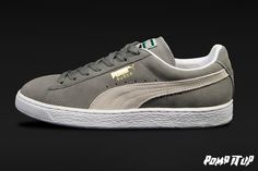 Puma Suede Classic (Steeple gray-white) For Men  Sizes: from 40 to 46 EUR Price: CHF 90.- #‎Puma‬ ‪#‎SuedeClassic‬ ‪#‎PumaSuedeClassic‬ ‪#‎Sneakers‬ ‪#‎SneakersAddict‬ ‪#‎PompItUp‬ ‪#‎PompItUpShop‬ ‪#‎PompItUpCommunity‬ ‪#‎Switzerland‬ Puma Suede Classic, Baskets, Chf, Switzerland, Women's Shoes, Gray, Sneakers, Clothes, Fashion