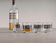 whiskey, bourbon, scotch & rye rocks glasses on etsy $60