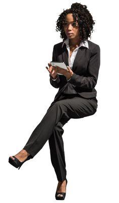 cutout woman sitting