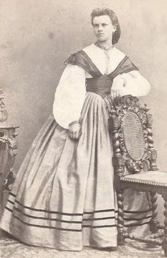 1860s Exceptional Beauty and Dress Germany CDV | eBay