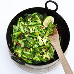 She likes to eat this - Green Vegetable Stir-Fry Recipe Ideas - Healthy & Easy Recipes