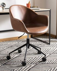 Shop Ember Swivel Office Chair from Safavieh at Neiman Marcus Last Call, where you'll save as much as on designer fashions. Desk Chair Comfy, Swivel Office Chair, Home Office Chairs, Home Office Decor, Home Decor, Leather Office Chairs, Office Ideas, Upholstered Swivel Chairs, Chair Upholstery