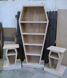 Coffin book shelf Check us out on Fb- Unique Intuitions #uniqueintuitions…