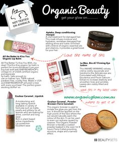 72ab64f9209 Organic Beauty (and cool website to organize beauty products). Allure  Cosmetics · Couleur Caramel ...