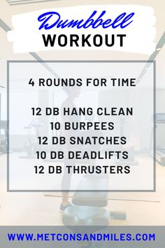 dumbbell workout Sharing details of how to keep working out while traveling. Three hotel workout plans that can be done with minimal or no equipment. Providing a template to help read Dumbbell Workout Routine, Full Body Dumbbell Workout, Wod Workout, Workout Posters, Workout Guide, Workout Plans, Workout Schedule, Workout Fitness, Crossfit Barbell