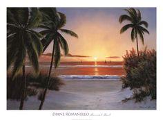 Sunset Sail by Diane Romanello art print