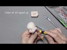 Sculpt a Mini Baby Face (V32) - Fully Pose-Able action - YouTube
