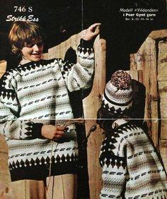 Vildanden 746 S min gamle genser Norwegian Knitting, Jumpers, Knitting Patterns, Blouse, Crafts, Tops, Women, Fashion, Threading