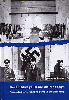 """In this touching and thoughtful autobiography, Horst Schmidt describes his life as a conscientious objector in Nazi Germany. As one of Jehovah's Witnesses, he refused to join Hitler's forces. Instead, he went underground with the Gestapo in hot pursuit. While travelling incognito with the banned publications of his religion he met his future wife, Hermine, in Danzig."" He was sentenced to death... ~Author, Horst Schmidt, 2005"