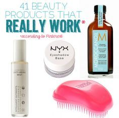 "41 Beauty Products That ""Really Work,"" According To Pinterest - Pinners = gospel. Your new holy grail beauty product awaits. Bet you can't get through this post without buying something."
