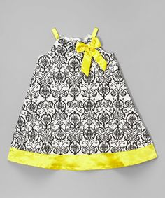 e9094dad0b06 Another great find on Mia Juliana Yellow Damask A-Line Dress - Infant,  Toddler & Girls by Mia Juliana