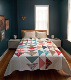 Fancy Tiger Crafts: New Fancy Pattern: Four Winds Quilt! This is so gorgeous and I love flying geese blocks.