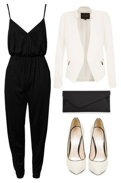 """""""Black and white <3"""" by lala-869 ❤ liked on Polyvore featuring NLY Trend, River Island, Casadei, Accessorize and blackandwhite"""