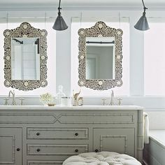 Love the use of the inlaid mirrors...(that's about it).