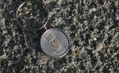 Keychain for daddy 14k heart We love Daddy by belladesignsjewelry etsy