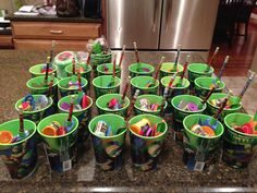 "TMNT goody ""bags"" for Ryder's party."