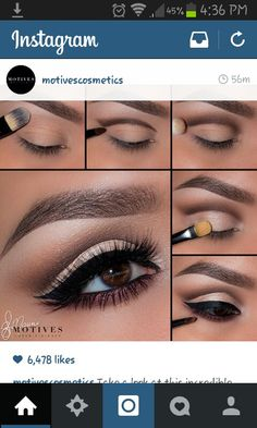 Eye Makeup Tips.Smokey Eye Makeup Tips - For a Catchy and Impressive Look Eyeshadow Tutorial Natural, Hooded Eye Makeup Tutorial, Contouring Tutorial, Natural Eyeshadow, Dark Eyeshadow, Eye Makeup Tutorials, Eyeshadow Palette, Cut Crease Eyeshadow, Makeup Tutorial Step By Step