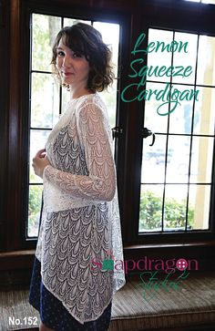 Items similar to PDF Lemon Squeeze Cardigan Pattern by Snapdragon Studios on Etsy Fabric Patterns, Print Patterns, Sewing Patterns, Sewing Ideas, Lace Cardigan, Cardigan Pattern, Printing On Tissue Paper, Sewing Blogs, How To Squeeze Lemons