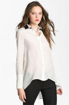 10 Crosby Derek Lam Silk Shirt | Nordstrom